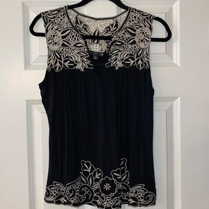 Super cute Filtre by Nordstrom embroidered top